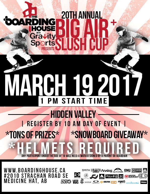 20th Annual Big Air & Slush Cup @ Hidden Valley Ski Resort